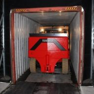 Chariot élévateur sur mesure spécial conteneurs