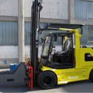 Chariot élévateur électrique version 96V spécialement conçu pour l'industrie du papier, capacité de charge 8000 kg CDG 900 mm.