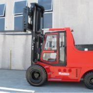 Chariot élévateur électrique et Diesel Super compact (Longueur L2 = 3950 mm, Largeur B2 = 2070 mm) avec une grande inclinaison, capacité de charge 15000 kg CDG 600 mm.