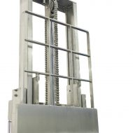 Dosseret de charge ajourée en inox, fabrication sur mesure en fonction de la hauteur demander. Toutes les pièces sont 100% en acier inoxydable.