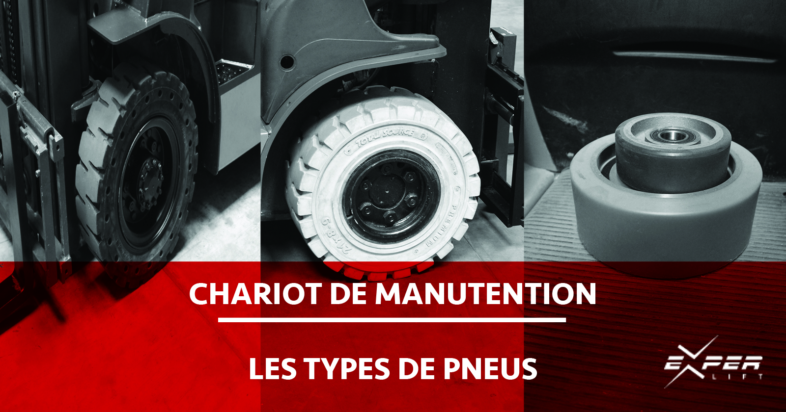 Types de pneus de chariot de manutention