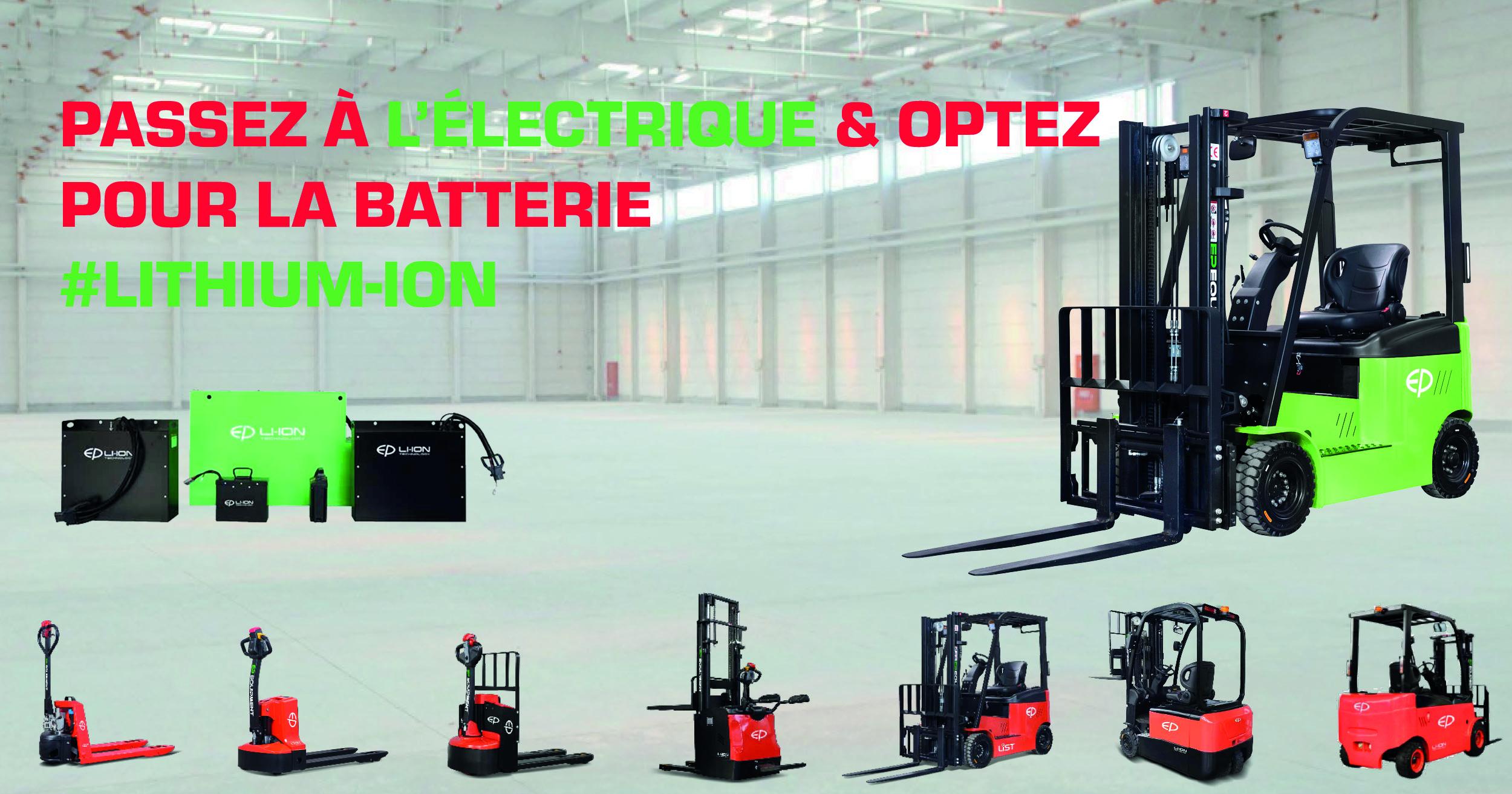 Passez à l'électrique & optez pour la batterie Lithium-Ion