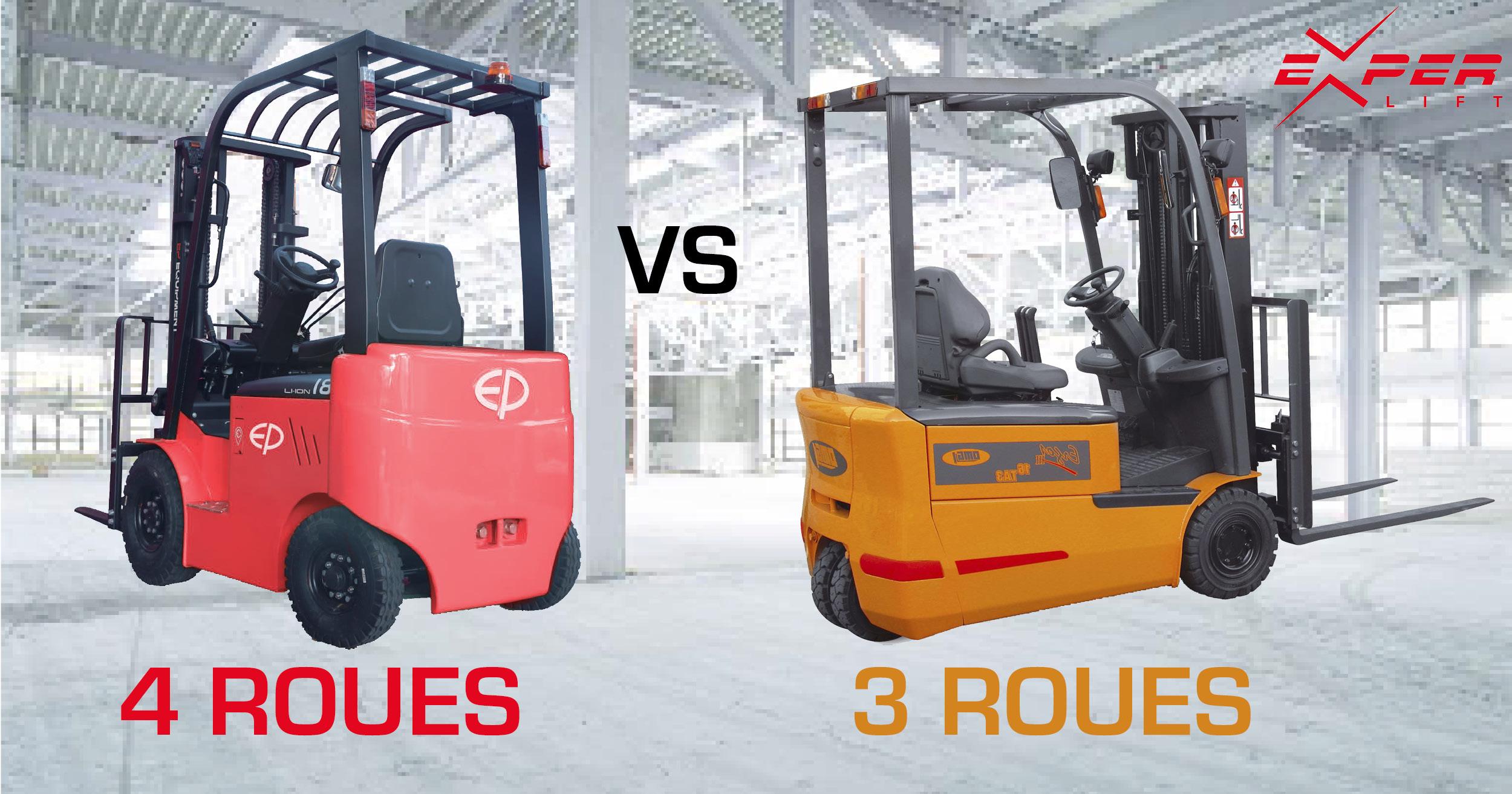 Comment choisir entre un chariot élévateur 3 roues et 4 roues ?